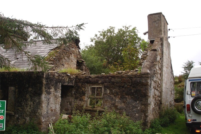 Before Restoration Work On A Traditional Stone Cottage By